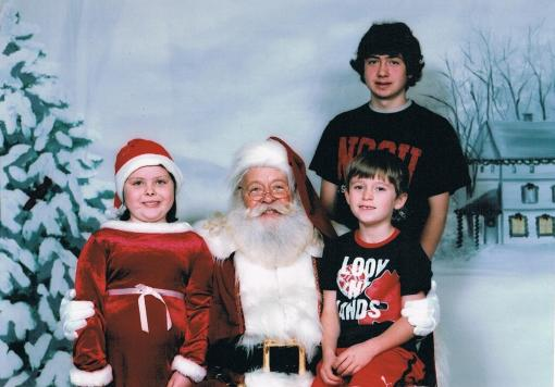 My kids with Santa